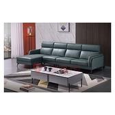 [紅蘋果傢俱]義式LJ8046沙發(另售 茶几 地櫃 角几) L型沙發 牛皮沙發 實木內框架 極簡 義式客廳