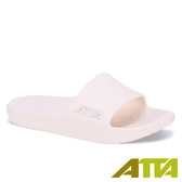 【333家居鞋館】ATTA舒適幾何紋室外拖鞋-白色
