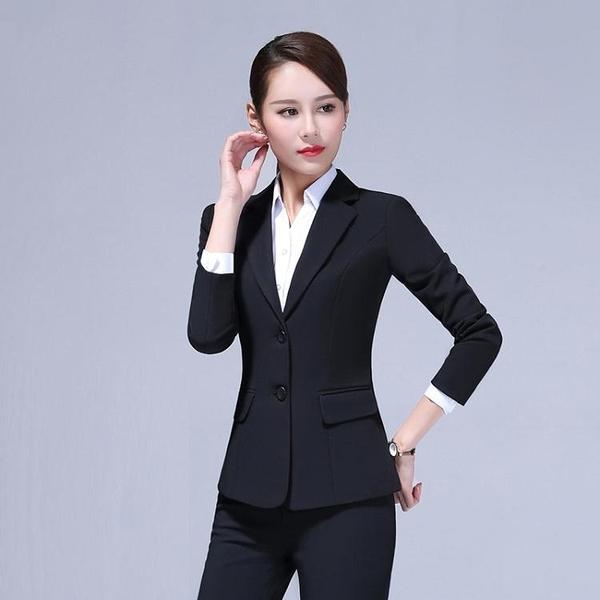 西裝外套黑色小西裝外套女面試上衣2020新款職業正裝女工裝韓版西服套裝女 雙11 伊蘿