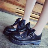 小皮鞋軟妹女鞋厚底女單鞋可愛圓頭學生娃娃鞋 俏腳丫