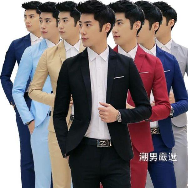 春秋季男士休閒西裝商務正裝職業裝男修身小西服單西外套單件上衣M-3XL