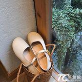 娃娃鞋/可愛娃娃鞋顯瘦早春一字扣平底單鞋小皮鞋女
