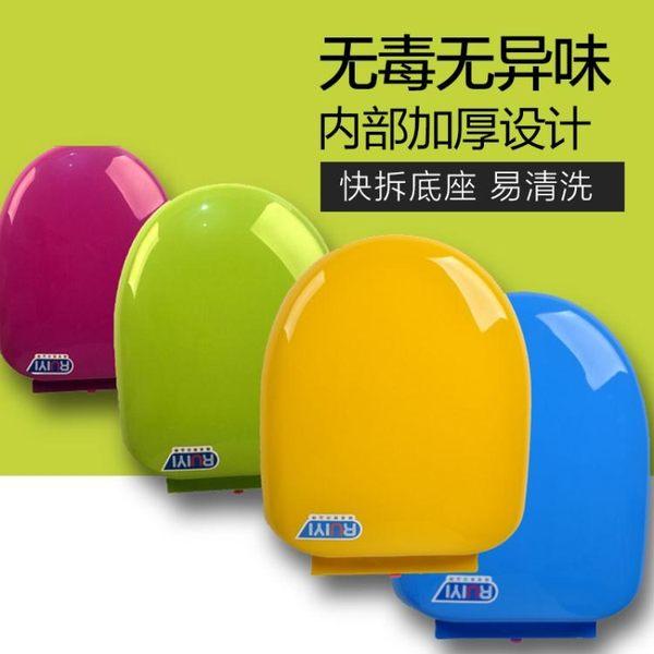 彩色馬桶蓋通用加厚坐便器蓋緩降老式圈座便蓋PP蓋板igo