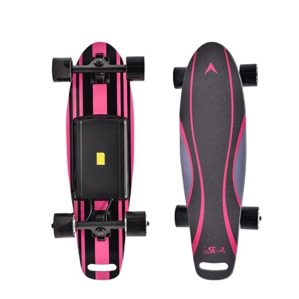 新款彩騎電動小魚板四輪電動滑板兒童玩具無線搖控智慧代步