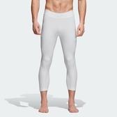 ADIDAS ASK TEC TIG 3/4 白 緊身 彈性 束褲 內搭褲 男(布魯克林) CD7154