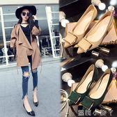 低跟鞋春尖頭高跟鞋女細跟淺口中跟低跟單鞋女5cm百搭性感優雅 蘿莉小腳ㄚ