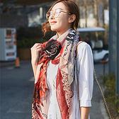 圍巾 塗鴉 字母 圖騰 棉麻 百搭 披肩 圍巾【Fzr1215】 BOBI  10/19