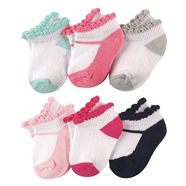 寶寶襪/嬰兒襪 Luvable Friends 荷葉邊嬰兒襪6件組 - 粉綠瑪莉珍 26148 58133