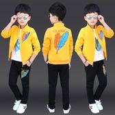 童裝男童秋裝套裝2018新款韓版中大童兒童帥氣男孩運動秋季潮衣服   初見居家