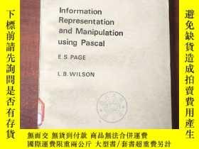 二手書博民逛書店information罕見representation and manipulation using Pascal