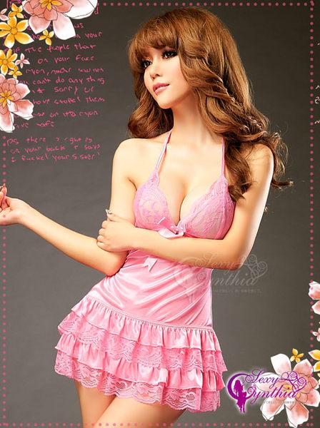 純情甜吻!蕾絲澎裙二件式睡衣 (OS shop)