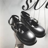 娃娃鞋復古學院風女單鞋2019秋新款圓頭鬆糕厚底娃娃鞋日系包頭小皮鞋 衣間迷你屋