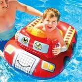 游泳圈 兒童-6歲加厚可愛卡通造型水上活動坐騎浮板3款73ez21【時尚巴黎】