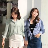 中大尺碼 春季輕薄款襯衫上衣~共三色 - 適XL~4L《 68048 》CC-GIRL
