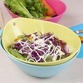 茶花沙拉碗塑料碗蔬菜零食碗水果盤加厚家用大號客廳洗菜盆果盤