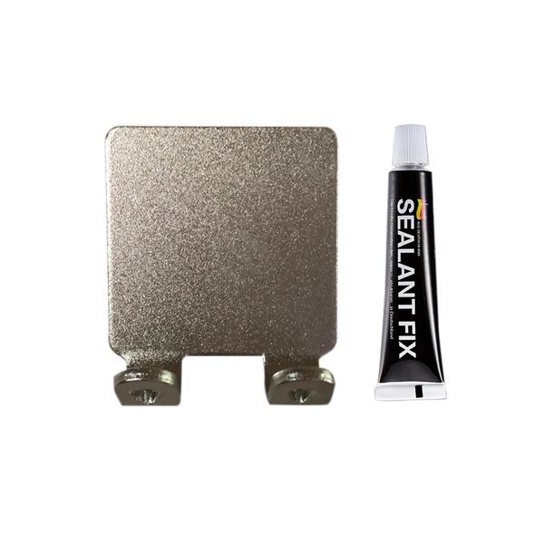 1004B 無痕貼太空鋁小雙勾 鋁色、霧黑兩色可選 附免釘膠(6g)