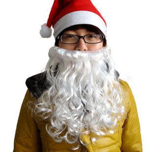 聖誕節道具用品 加厚聖誕老人胡子 不含帽子35g
