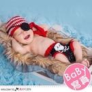 嬰兒攝影寫真毛線針織海盜服造型 2件/組