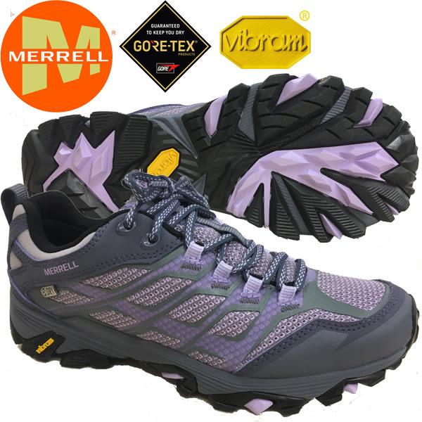 Merrell 37558 女防水多功能健行鞋/淺紫 登山鞋 Moab Fst Wtpe 運動健走鞋/深刻鞋紋/高抓地力/黃金大底鞋