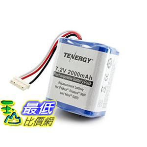 [2美國直購] 380t 相容型電池 7.2V 2000mAh Replacement Battery for iRobot Braava 380t & Mint 5200 tf01