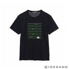 【GIORDANO】男裝THE SEA印花T恤 - 30 標誌海軍藍