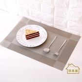 【居美麗】簡約歐式PVC隔熱餐墊 防水防滑餐墊 編織餐墊 可裁剪桌墊