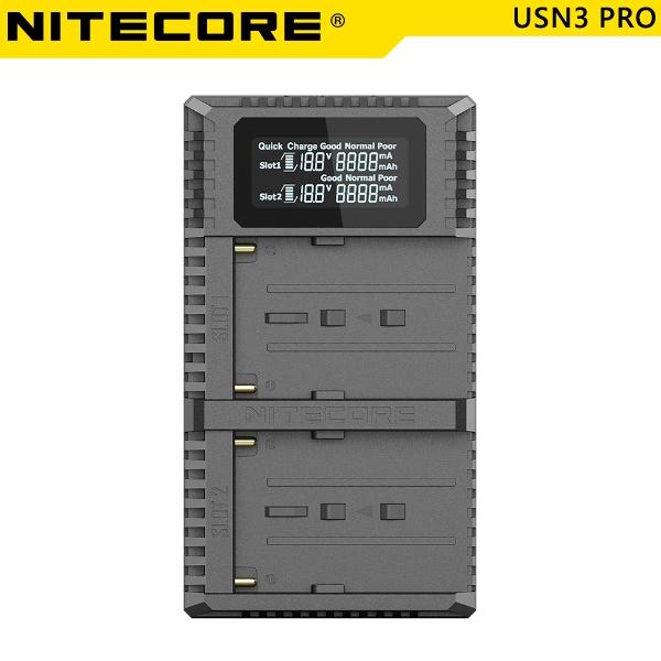 EGE 一番購】Nitecore 奈特柯爾【USN3 Pro】NP-F970 USB雙槽智能充電器 活化檢測【公司貨】