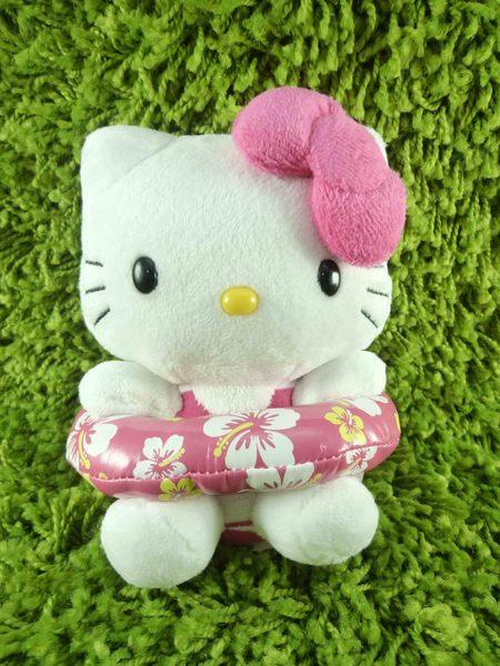 【震撼精品百貨】Hello Kitty 凱蒂貓~KITTY絨毛娃娃-泳圈圖案