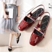 新款涼鞋女夏包頭溫柔仙女風瑪麗珍鞋 伊莎公主