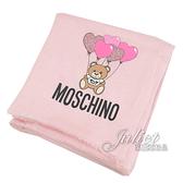 茱麗葉精品【全新現貨】 MOSCHINO 03657 M2229 氣球小熊印花莫代爾薄圍巾.粉