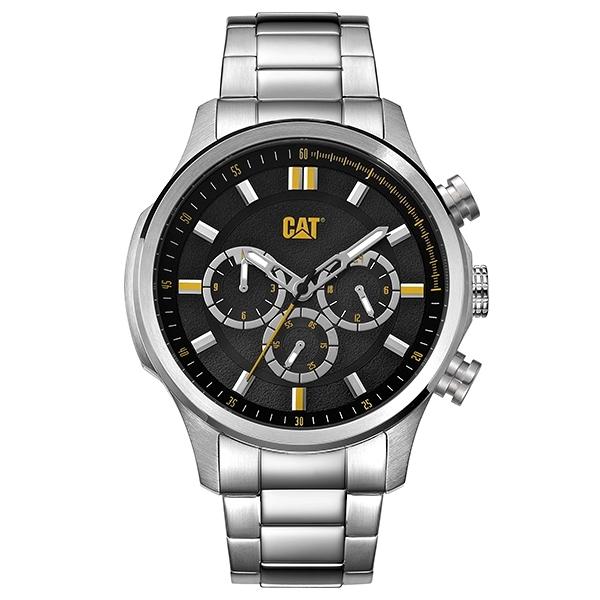 【CAT Watch】MAVERICK時尚三眼潮流鋼帶腕錶-質感銀/AG.149.11.127/台灣總代理公司貨享兩年保固