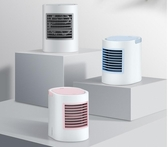 迷你空調手提冷氣桌面辦公室靜音桌上usb噴霧小型製冷器降溫小風扇可隨身攜帶電扇