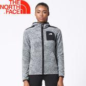 【The North Face 女款 刷毛外套《黑》】2Y2SYBH/連帽/保暖刷毛/輕量★滿額送