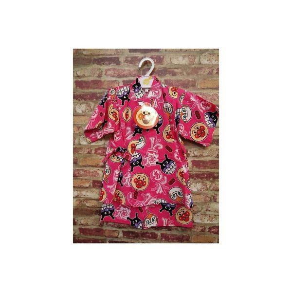 《西松屋》日本帶回【ANPANMAN 麵包超人細菌人祭典款 粉】日本傳統兒童浴衣/甚平/和服