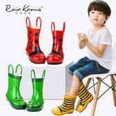 雨鞋  兒童雨鞋男童女童立體卡通蜜蜂橡膠鞋中大童寶寶水鞋雨靴