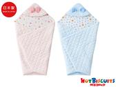 HOT BISCUITS 日本製雙面保暖柔軟包被(粉/藍)