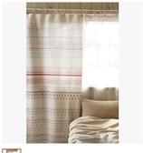 可愛時尚棉麻門簾45 廚房半簾 咖啡簾 窗幔簾 穿杆簾 風水簾 (80*180cm)