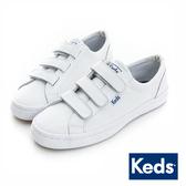 KEDS 時尚運動魔鬼氈皮質休閒鞋 白 173W132211 女鞋