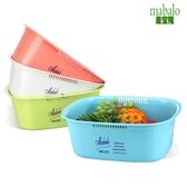 麥寶隆家用方形塑料臉盆加厚洗水果寶寶衣服面盆廚房大洗碗洗菜盆