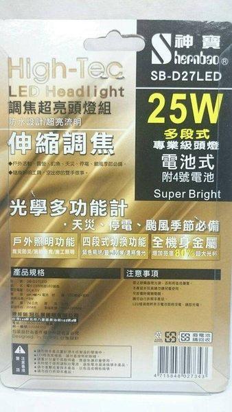 【調焦超亮頭燈組25W】027343 自行車頭燈 車頭燈 單車 照明【八八八】e網購