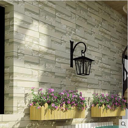 3D磚塊磚頭石紋石塊大理石文化石牆紙酒吧酒店客廳背景牆壁紙