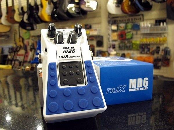 ☆ 唐尼樂器︵☆ NUX MD-6 MD6 Digital Delay 價格功能比破表之電吉他/電貝斯 Bass 單顆效果器