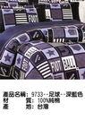 9733玫瑰-水藍色◎ 薄床包+薄枕套◎ 100%台灣製造&精梳棉 @雙人加大-6X6.2尺@
