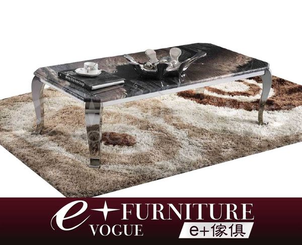 『 e+傢俱 』 BT42 埃米特 Emmet 天然玉石茶几/不繡鋼座/時尚現代