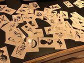 100張原創手繪暗黑防水紋身貼 女持久逼真正韓暗黑紋身【中秋節85折】