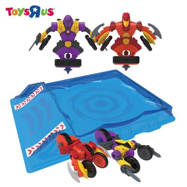 玩具反斗城 魔幻陀螺機甲戰車豪華套裝-幻甲VS赤天鷹