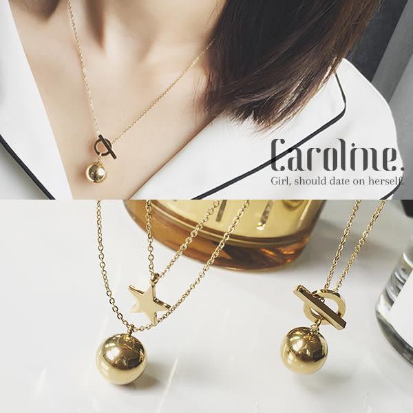 《Caroline》★韓風優雅時尚品味典雅設計項鍊68902