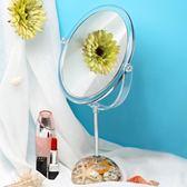 鏡子化妝鏡臺式梳妝鏡公主鏡宿舍桌面 學生雙面少女大號家用結婚【卡米優品】