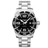 LONGINES 浪琴 征服者300米潛水64小時動力儲存機械錶-黑/44mm L38414566