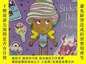 二手書博民逛書店IZZY罕見THE ICE CREAM FAIRY sticker Dolly dress up 兒童讀物 英文版